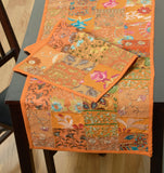 LR Resources TABLE LINENS 18011 Orange 13 X 19