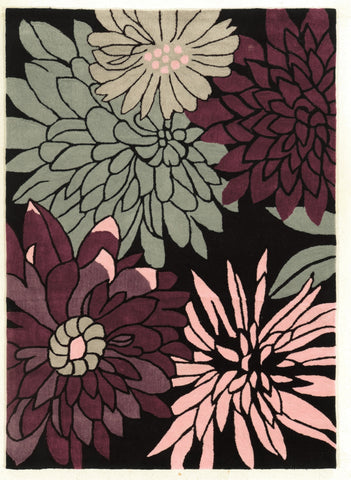 Linon Trio RUG-TAF08 Black/Multi Area Rug main image