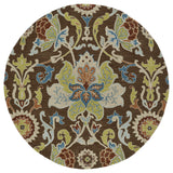 Kaleen Taj TAJ02-40 Chocolate Area Rug Round Shot