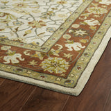 Kaleen Taj TAJ15-01 Ivory Area Rug Close-up Shot