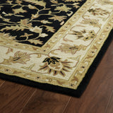 Kaleen Taj TAJ16-02 Black Area Rug Close-up Shot