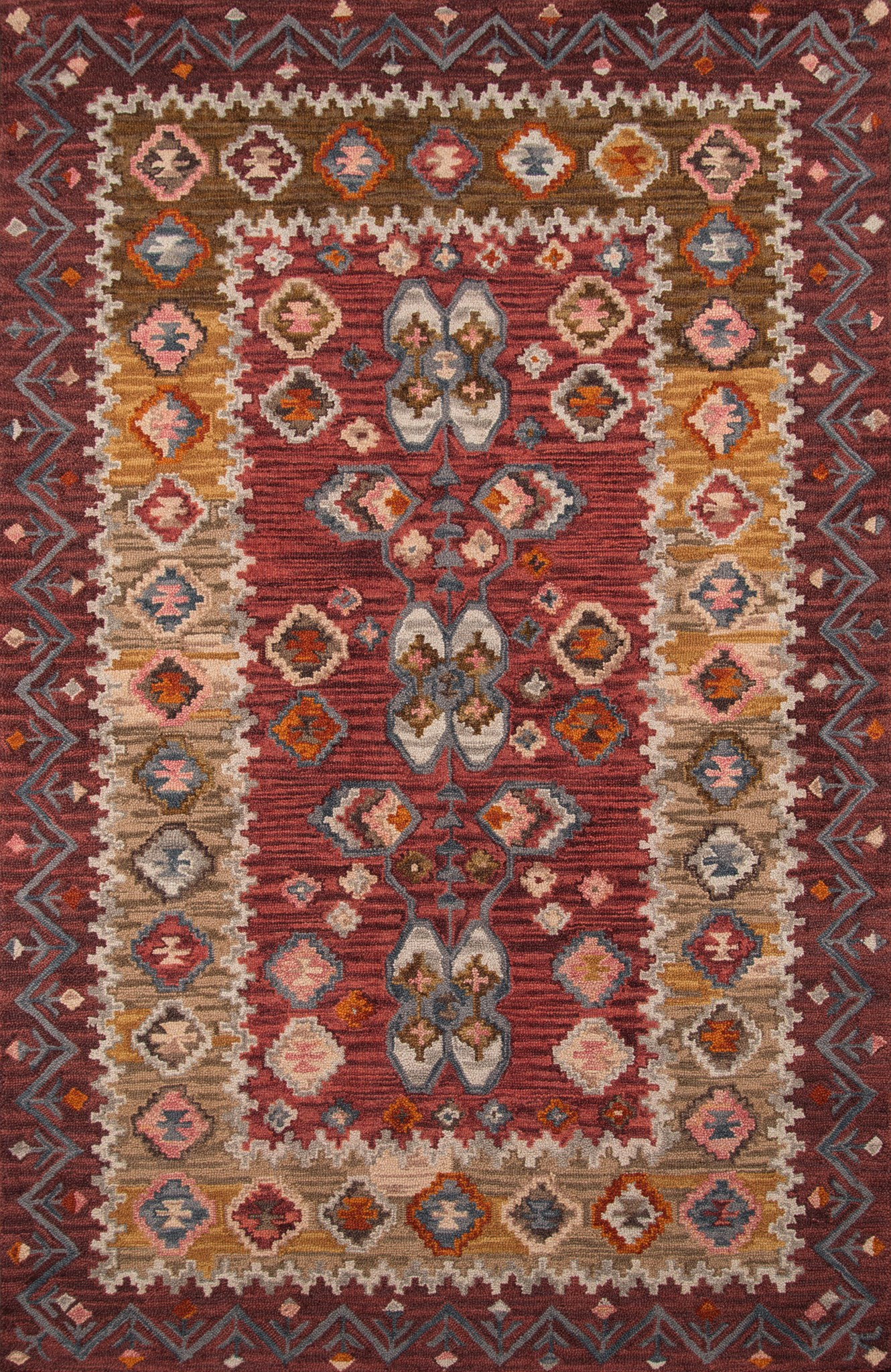 Momeni Tangier TAN-1 Red Area Rug main image