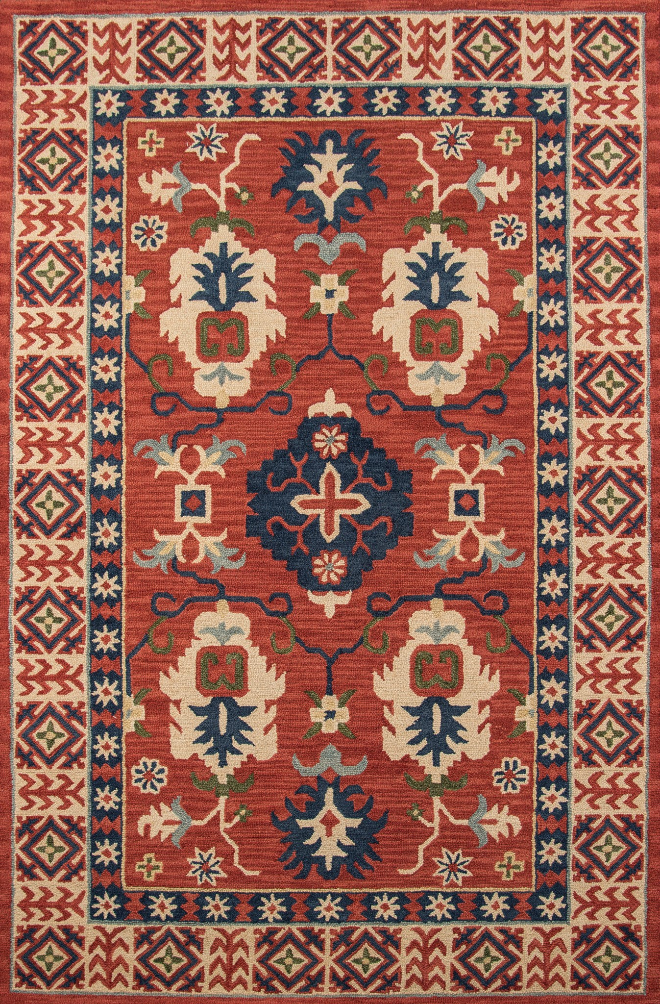 Momeni Tangier TAN-3 Red Area Rug main image