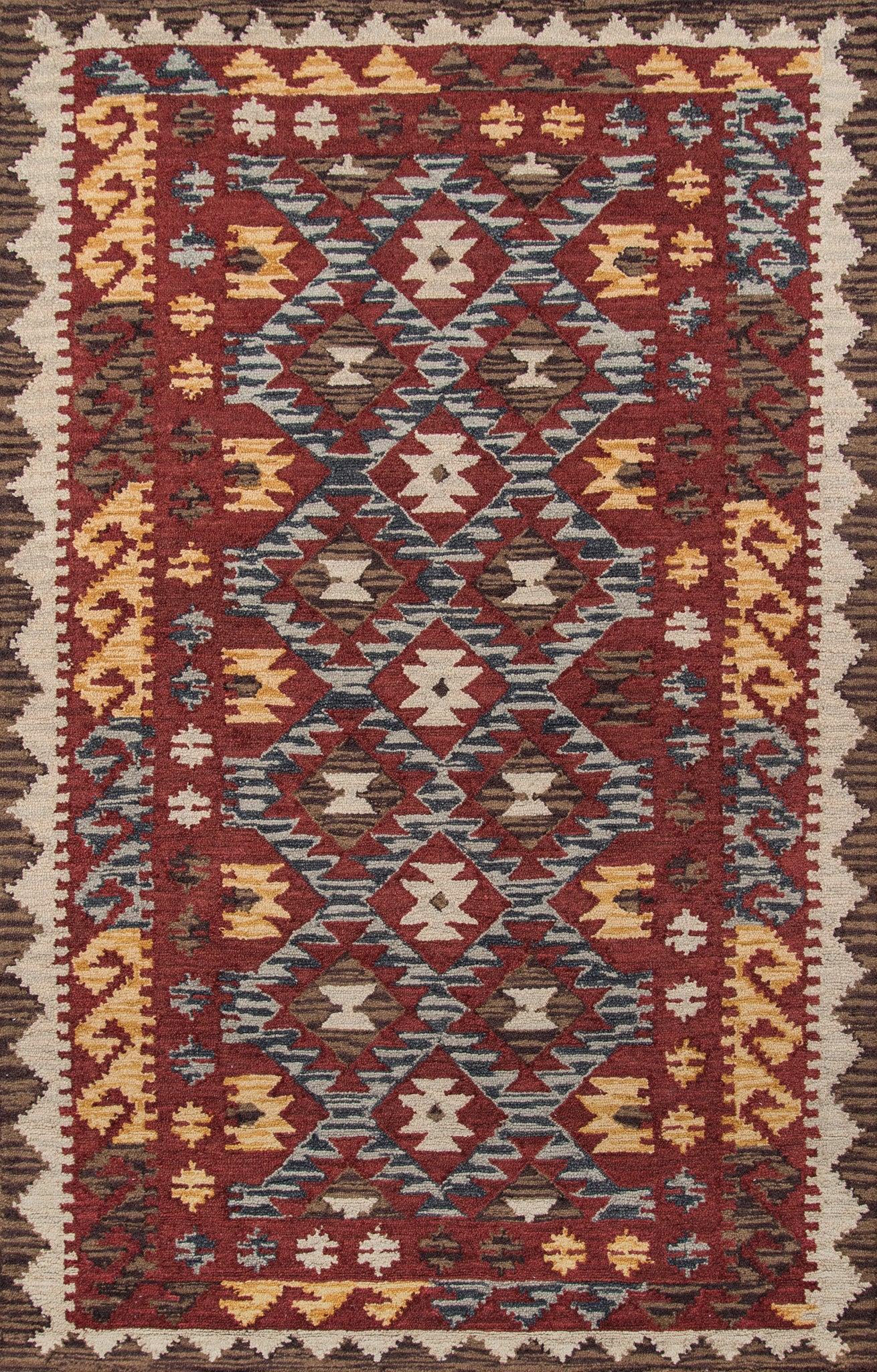 Momeni Tangier TAN-7 Red Area Rug main image