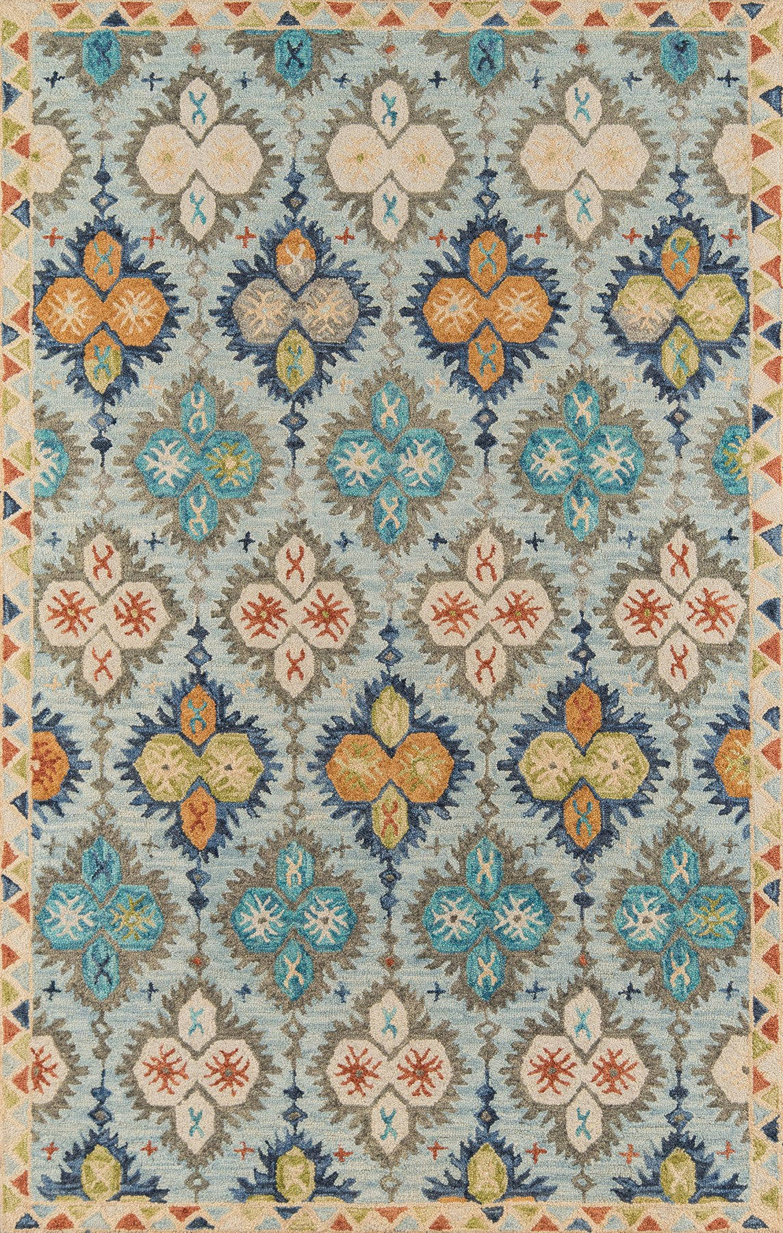 Momeni Tangier TAN17 Blue Area Rug main image