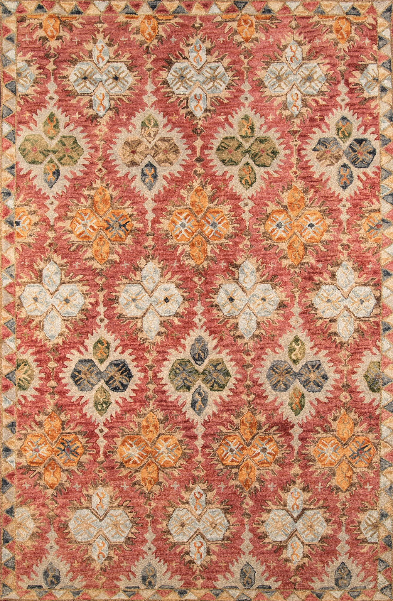 Momeni Tangier TAN17 Red Area Rug main image