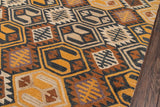 Momeni Tangier TAN18 Black Area Rug Corner Shot