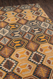 Momeni Tangier TAN18 Black Area Rug Close Up