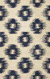 KAS Tapestry 6801 Ivory/Blue Simplicity Hand Tufted Area Rug
