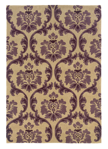 Linon Trio RUG-TARL05 Cream/Purple Area Rug main image