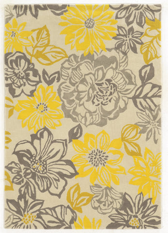 Linon Trio RUG-TARL32 Grey/Yellow Area Rug main image