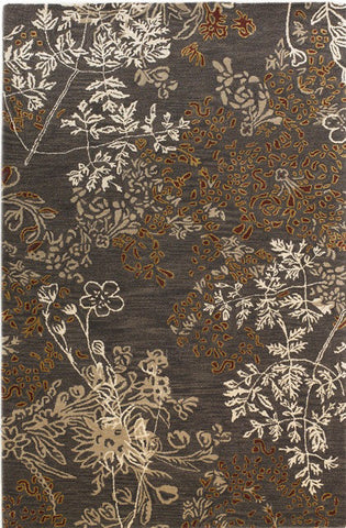 Linon Ashton RUG-TC02 Charcoal/Gold Area Rug main image