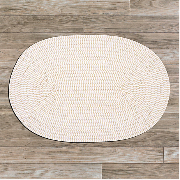 Colonial Mills Ticking Stripe TK10 Oval Canvas Area Rug main image