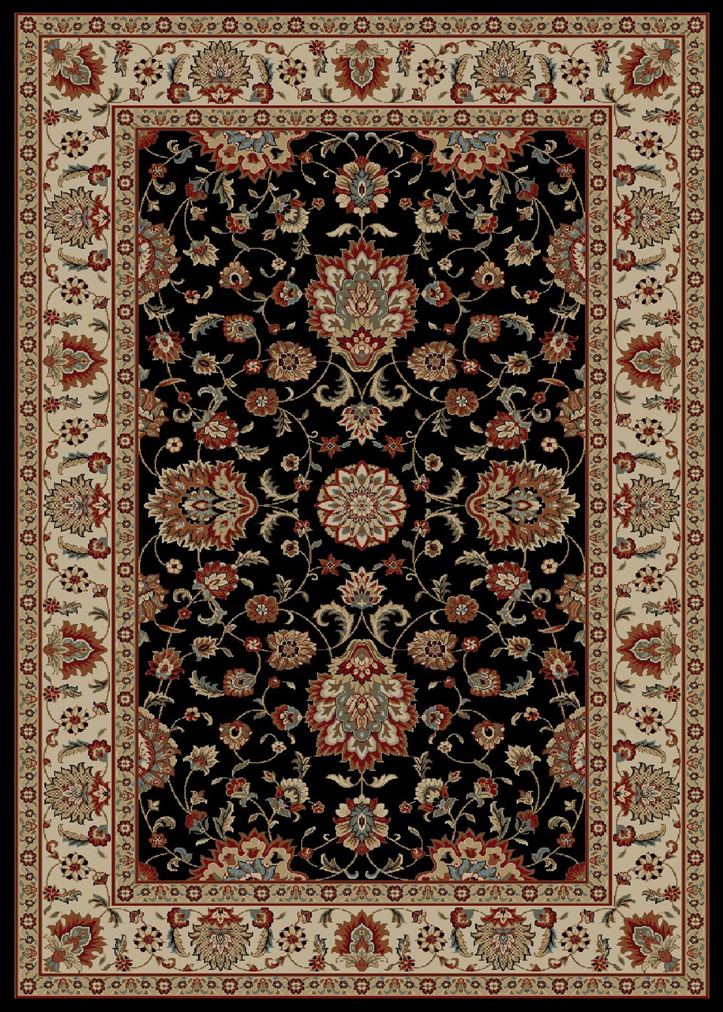 Mayberry Timeless TL3623-Olivia Black Area Rug
