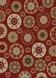 Mayberry Timeless TL3650-Deco Pinwheel Claret Area Rug