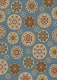 Mayberry Timeless TL3656-Deco Pinwheel Blue Area Rug