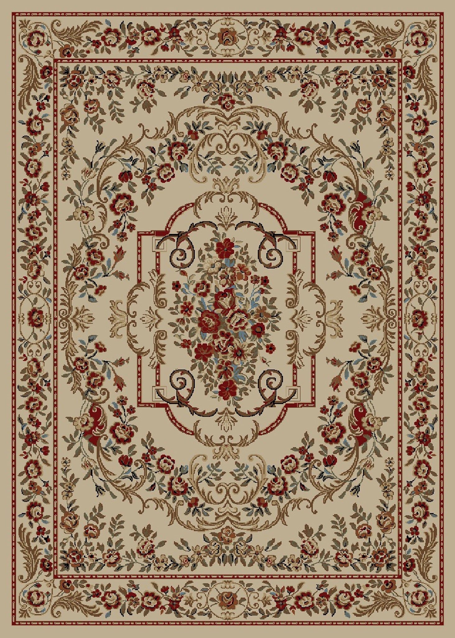 Mayberry Timeless TL3662-Vivian Beige Area Rug