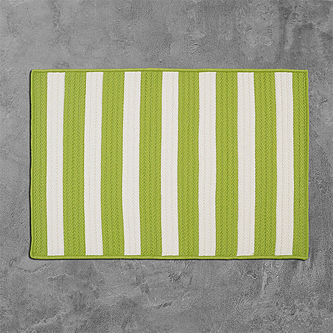 Colonial Mills Stripe It TR29 Bright Lime Area Rug main image