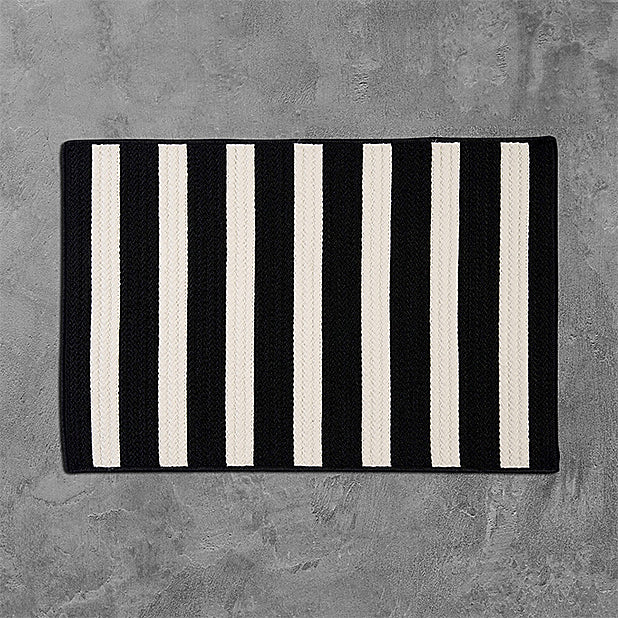 Colonial Mills Stripe It TR89 Black White Area Rug main image