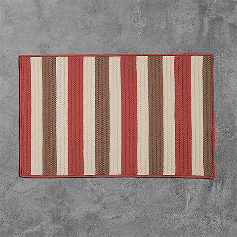 Colonial Mills Stripe It TR99 Terracotta Area Rug main image