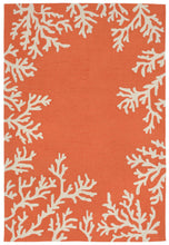 Trans Ocean Capri Coral Border Orange Area Rug by Liora Manne