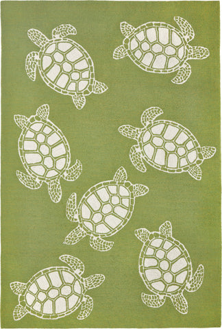 Trans Ocean Capri Turtle Greenery Area Rug Mirror by Liora Manne main image