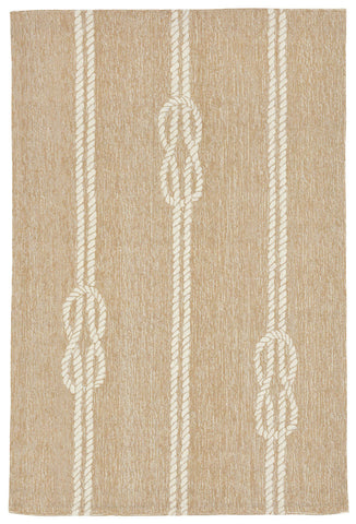 Trans Ocean Capri Ropes Natural Area Rug by Liora Manne main image
