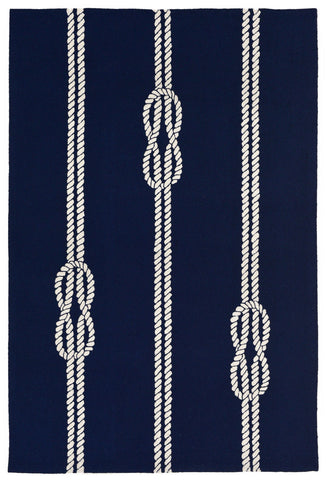 Trans Ocean Capri Ropes Navy Area Rug by Liora Manne main image