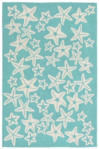 Trans Ocean Capri Starfish Blue Area Rug by Liora Manne main image