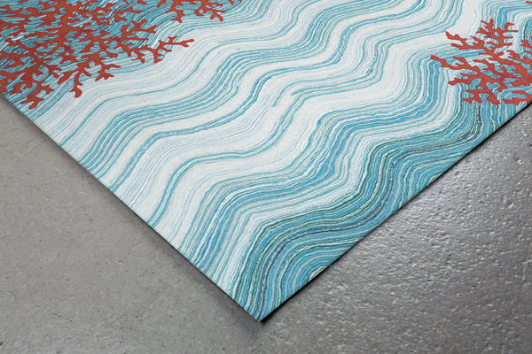 Trans Ocean Visions Iv Coral Reef Blue Area Rug By Liora