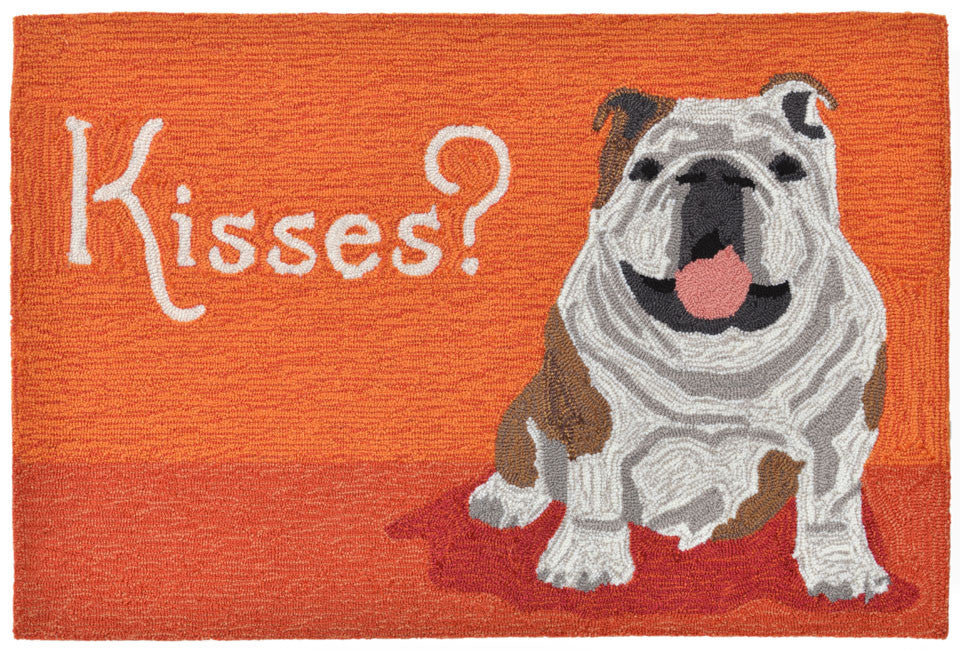Trans Ocean Frontporch Wet Kiss Orange Area Rug main image