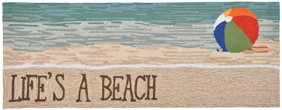 Trans Ocean Frontporch Life's A Beach Multi Area Rug by Liora Manne main image