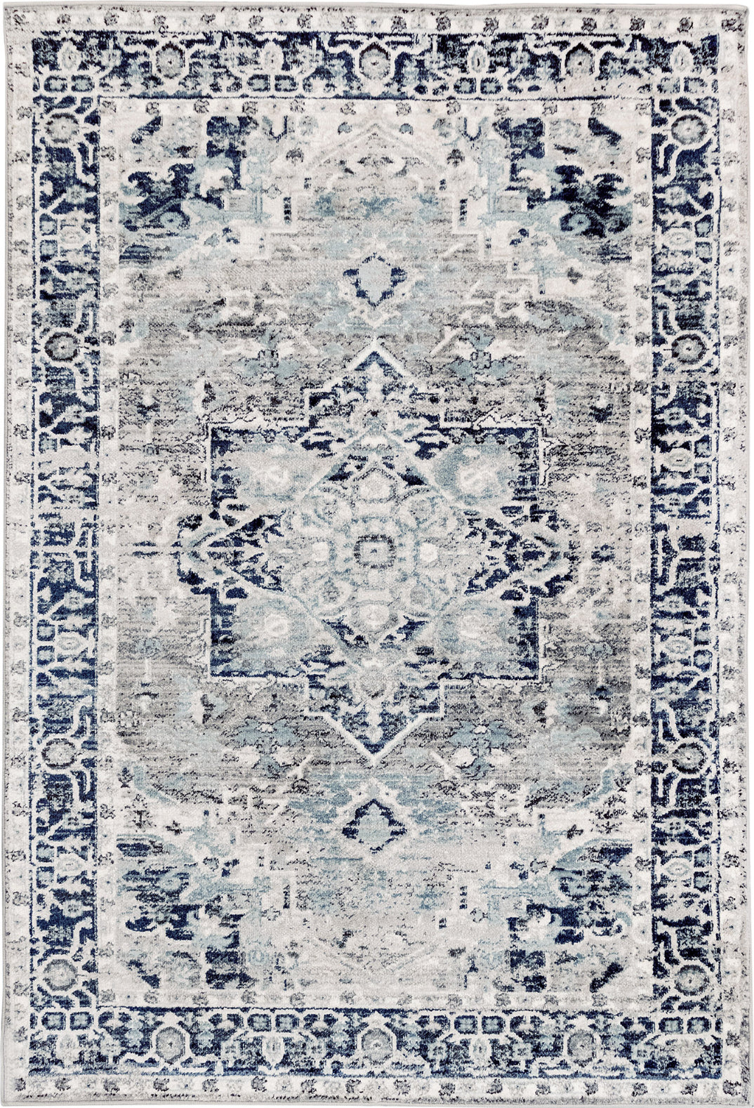 Trans Ocean Hampton Heriz Grey Area Rug Mirror by Liora Manne main image