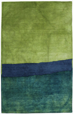 Trans Ocean Piazza Zen Blue Area Rug by Liora Manne main image