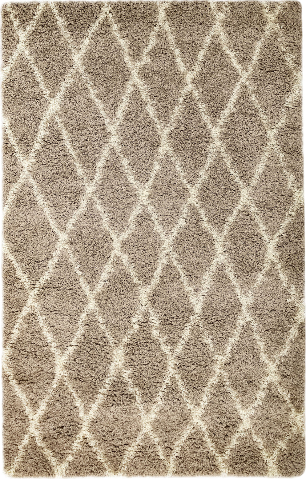 Trans Ocean Rio Diamonds Beige Area Rug Mirror by Liora Manne main image