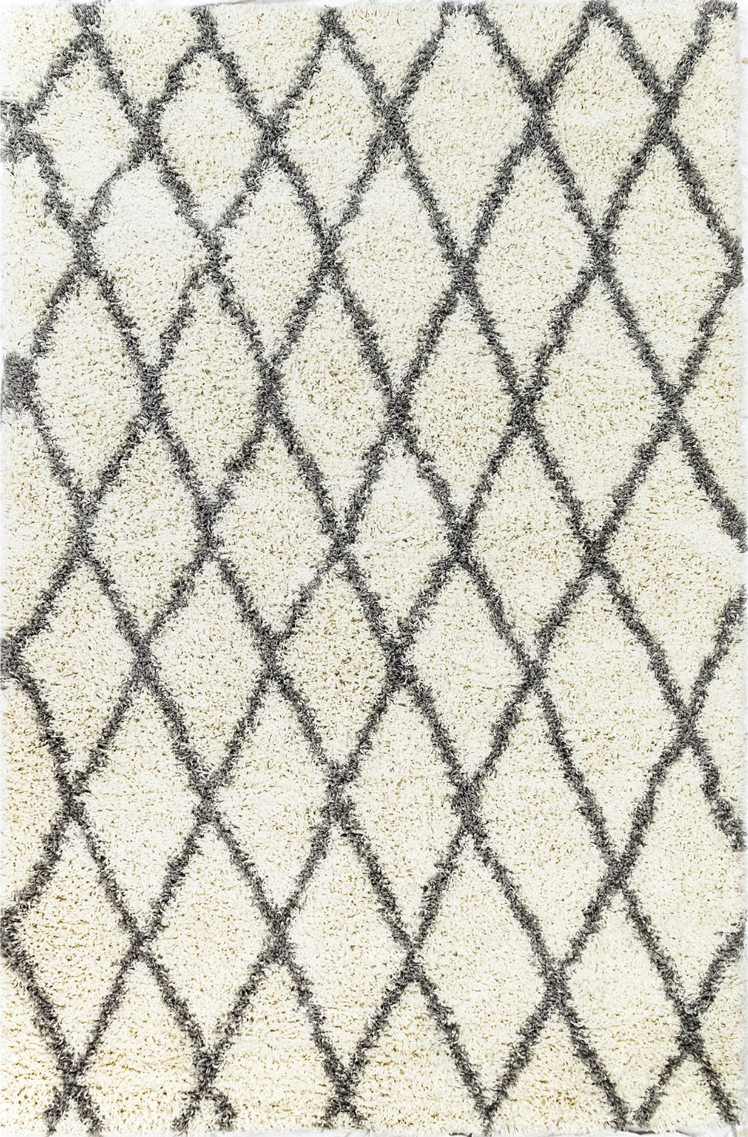 Trans Ocean Rio Diamonds Ivory Area Rug Mirror by Liora Manne main image
