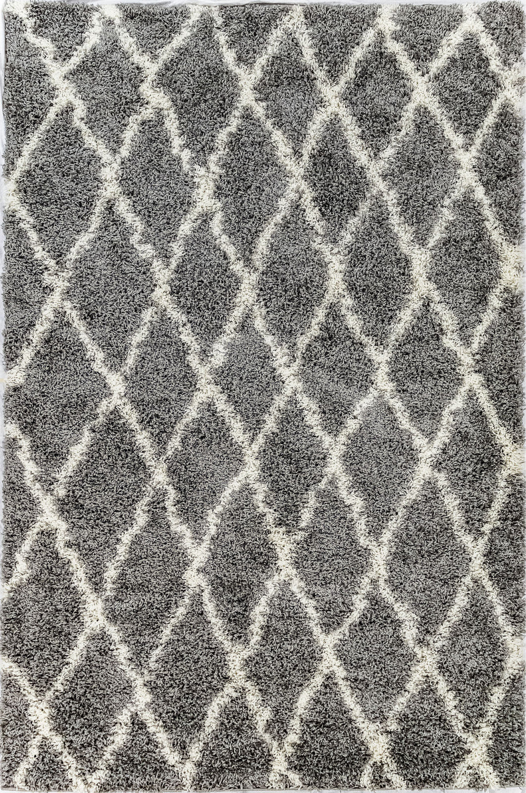 Trans Ocean Rio Diamonds Grey Area Rug Mirror by Liora Manne main image