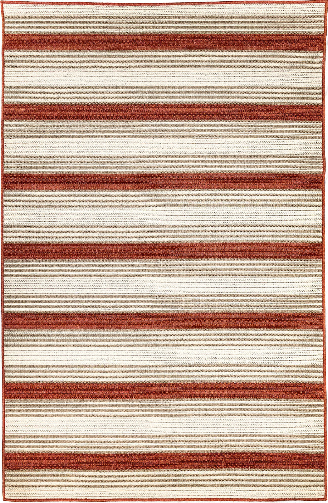 Trans Ocean Riviera Stripe Red Area Rug Mirror by Liora Manne main image