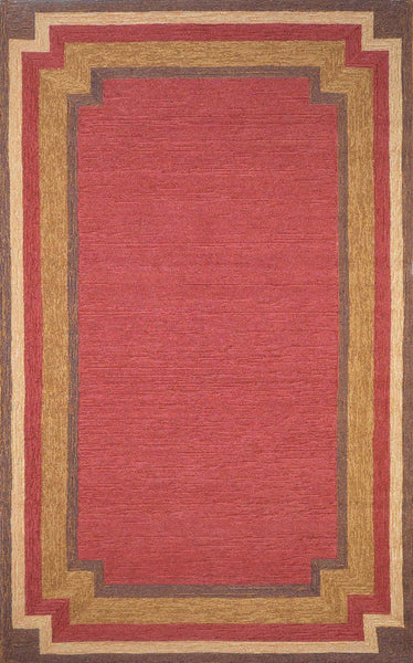 Trans Ocean Ravella Border Red Area Rug by Liora Manne – Incredible