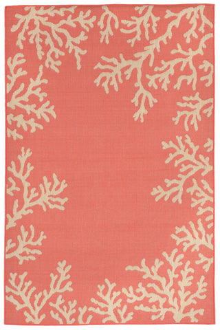 Trans Ocean Terrace Coral Bdr Orange Area Rug main image