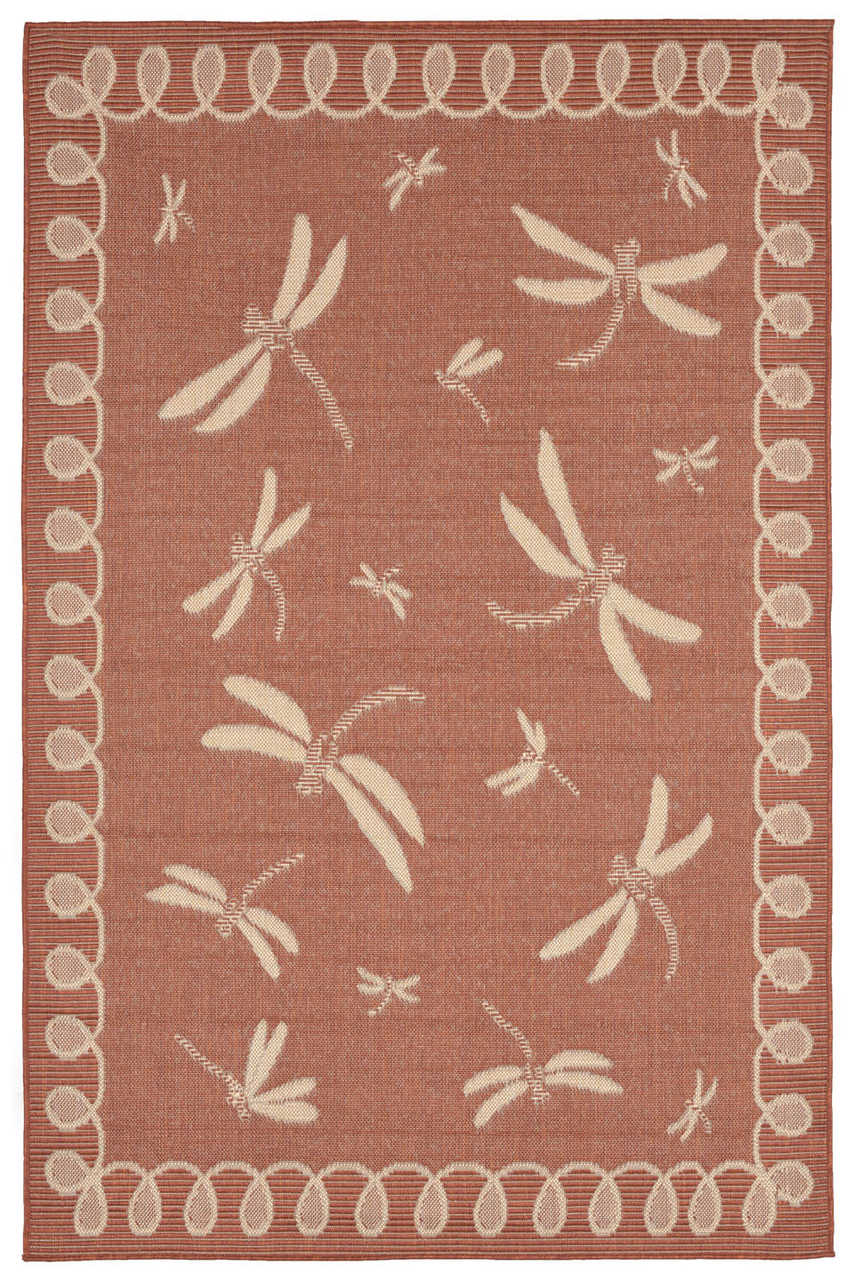 Trans Ocean Terrace Dragonfly Rust Area Rug by Liora Manne main image