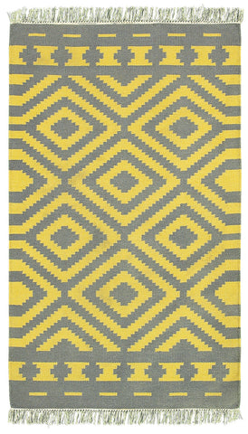 LR Resources Tribeca 04323 Gray/Mustard Area Rug