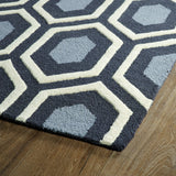 Kaleen Trends TRN03-38 Charcoal Area Rug Close-up Shot