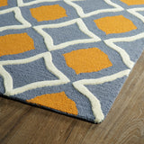 Kaleen Trends TRN04-75 Grey Area Rug Close-up Shot