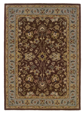 Linon Trio Traditional RUG-TT02 Brown/Light Blue Area Rug main image