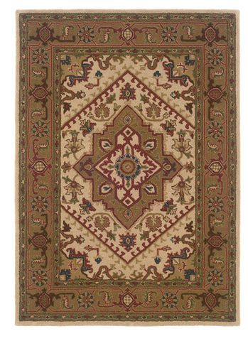 Linon Trio Traditional RUG-TT03 Ivory/Gold Area Rug main image