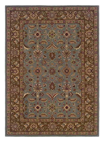 Linon Trio Traditional RUG-TT05 Light Blue/Brown Area Rug main image