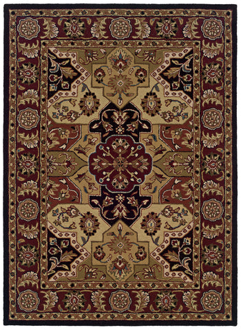 Linon Trio Traditional RUG-TT06 Burgundy/Black Area Rug main image