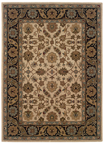 Linon Trio Traditional RUG-TT07 Ivory/Black Area Rug main image