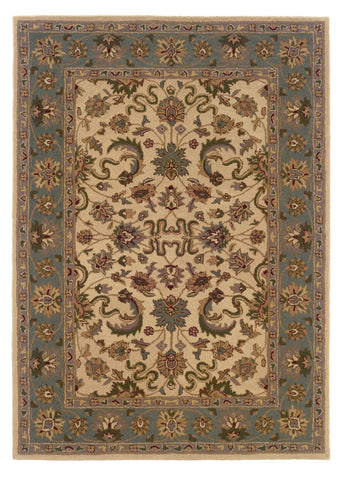 Linon Trio Traditional RUG-TT08 Cream/Light Blue Area Rug main image